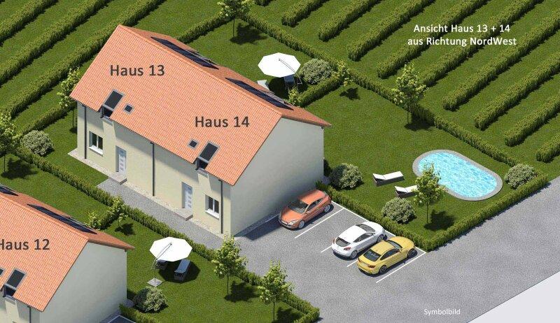 """TOPPREIS! Doppelhaushälfte mit großem Garten (Haus 14 """"zum Rebstock"""")"""