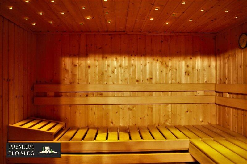Breitenbach am Inn - Elegantes Landhaus - Sauna Beleuchtung