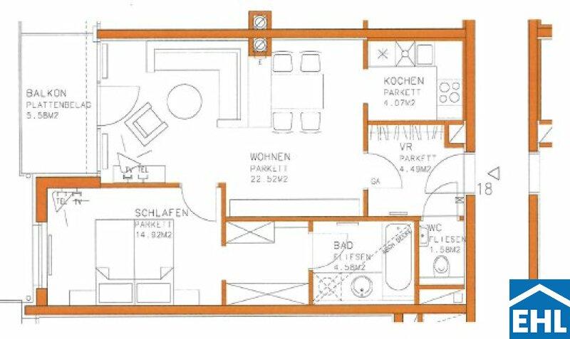 Schöne 2 Zimmerwohnung in Citynähe /  / 1030Wien / Bild 6