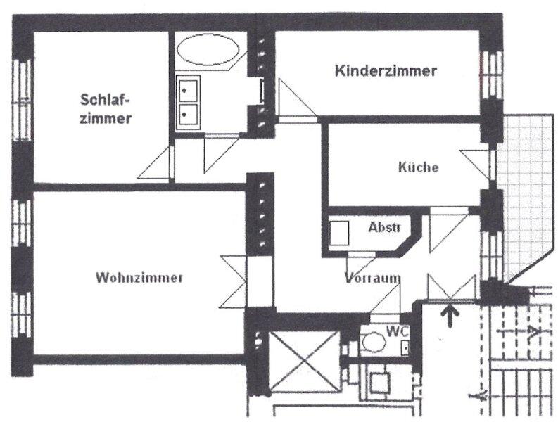 Neuwertige, wunderschöne Altbauwohnung mit Terrasse, 3 Zimmer + Küche inkl. Küchenzeile, sonnig,  U3-Hütteldorferstraße, Linie 49, WG.geignet! /  / 1140Wien / Bild 10