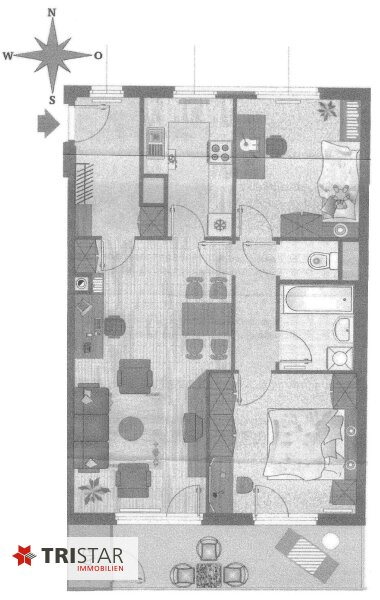 Wunderschöne 3 Zimmerwohnung mit Loggia in Südlage! /  / 1020Wien / Bild 8