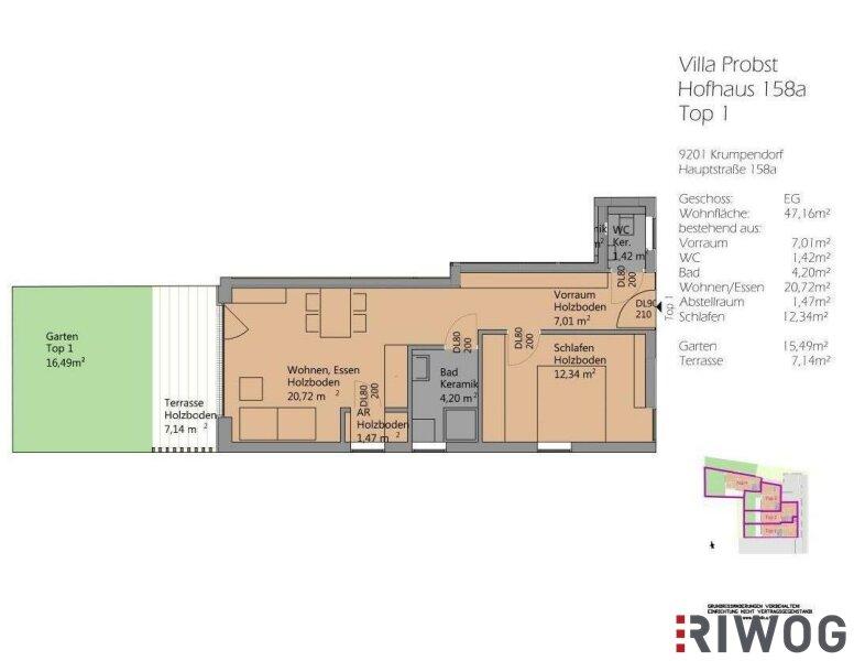 Neubau - Barrierefreie Wohnung - großzügige Terrasse /  / 9201Krumpendorf am Wörthersee / Bild 2