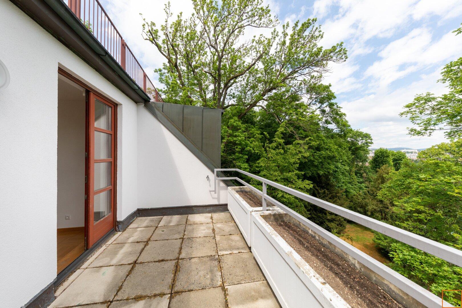 Terrasse ( 7,74 m²) beim Schlafzimmer