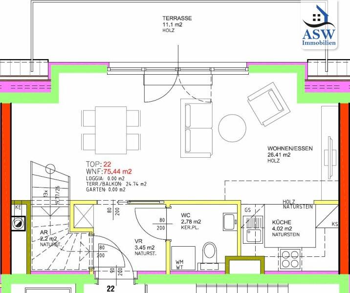 Wunderschöne 2-Zimmer Dachgeschoßwohnung mit 2 Terrassen in U-Bahn-Nähe /  / 1160Wien / Bild 1