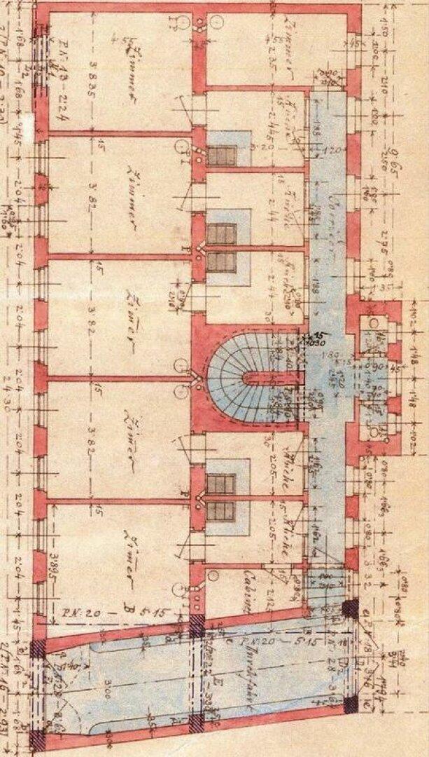 Grundriss EG (Bestandsplan aus dem Bauakt)