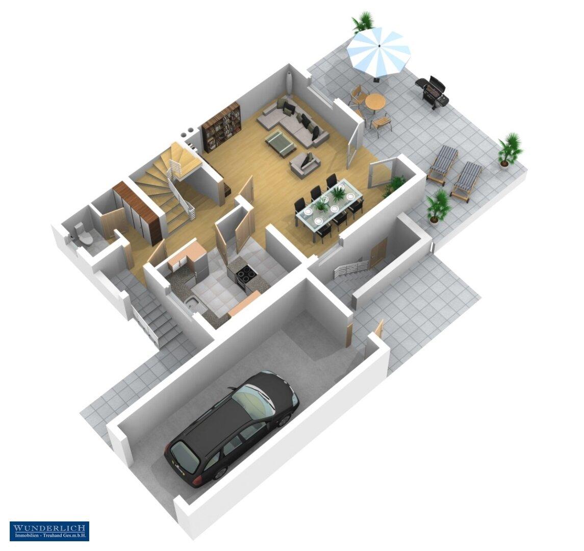 3D-Ansicht Erdgeschoß