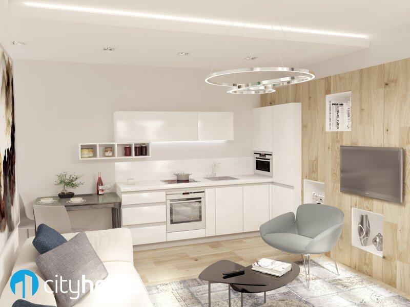 perfekt aufgeteilte 37m² - 16 m² Hofterrasse - Wohnküche - Schlafzimmer - THE RESIDENCE /  / 1140Wien / Bild 0