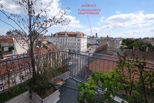 FLORIDSDORF - AM SPITZ: 87 m² Dachwohnung (3-Zimmer) + 62 m² Dachterrasse 360 Grad-Ausblick