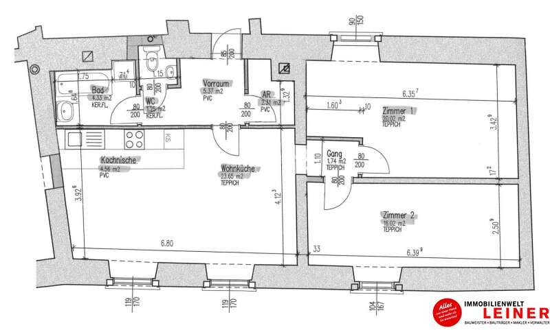 2320 Schwechat - Rauchenwarth: 3 Zimmer Mietwohnung - herrschaftlich wohnen in einem Denkmalgeschütztem Haus mit Garten Objekt_10917 Bild_390