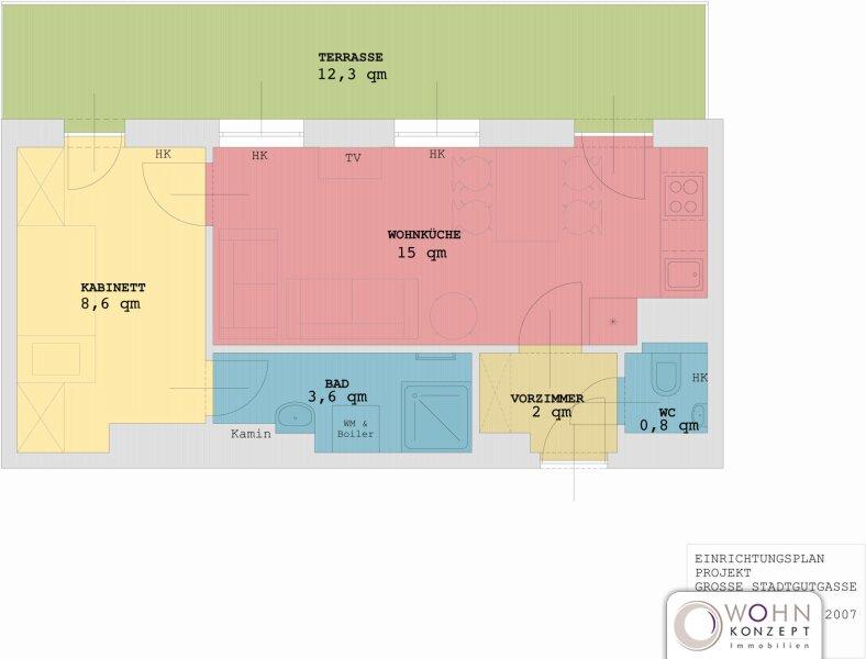 Moderne 30m² Wohnung mit 12m² Terrasse in 1020 Wien, Nähe Ausarten /  / 1020Wien / Bild 8