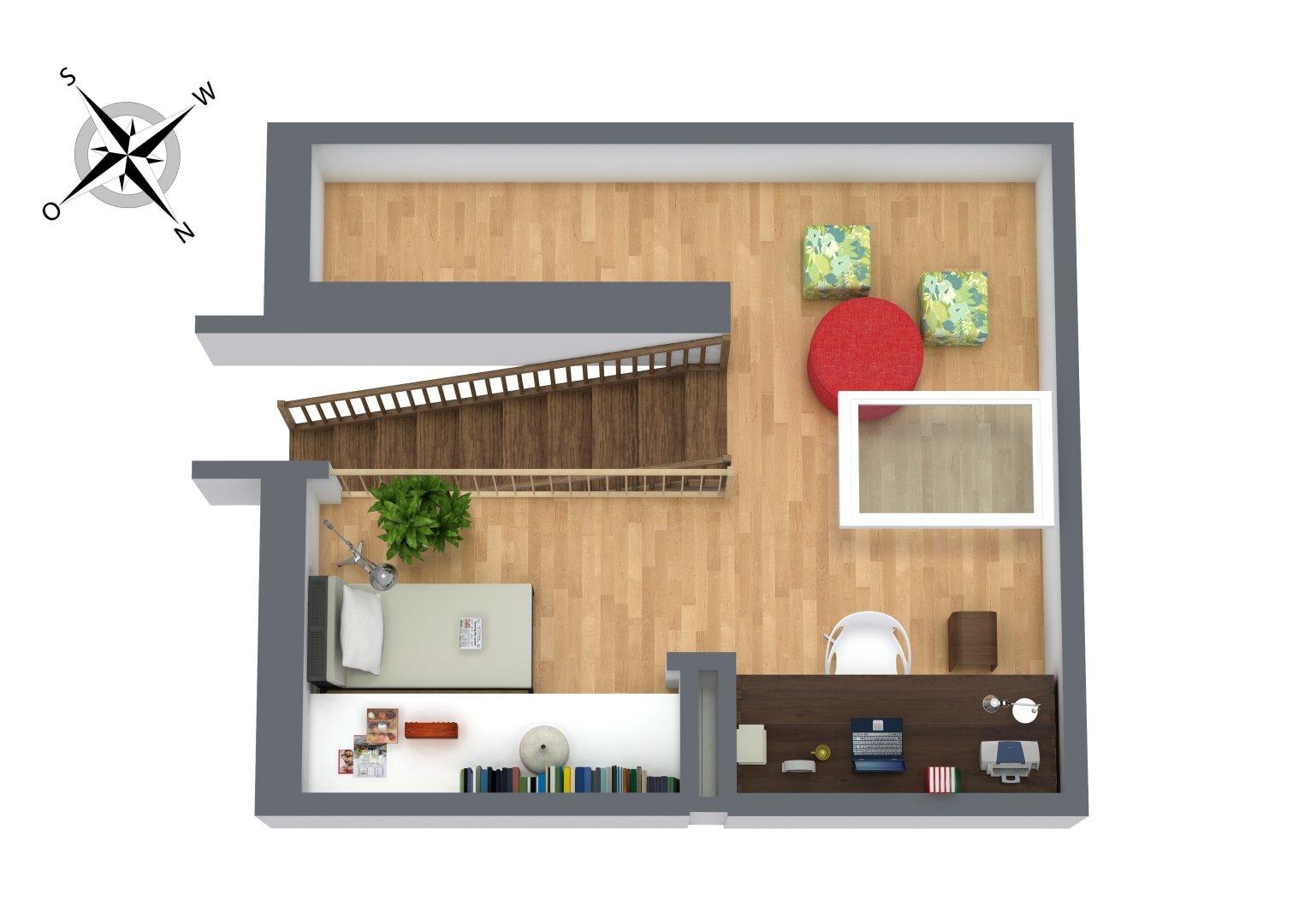 3D Grundriss Dachboden