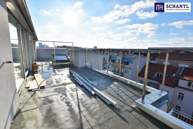 Kurz vor Fertigstellung! Perfekte Raumaufteilung + Hofseitiger Balkon und Terrasse + TOP-Ausstattung + Ideale Infrastruktur! Ab ins Dach!