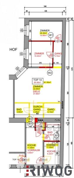 ++ Wohnen beim AUGARTEN ++ Top-sanierte 3 Zimmerwohnung in repräsentativen Altbau in absoluter Top-Lage /  / 1020Wien / Bild 8