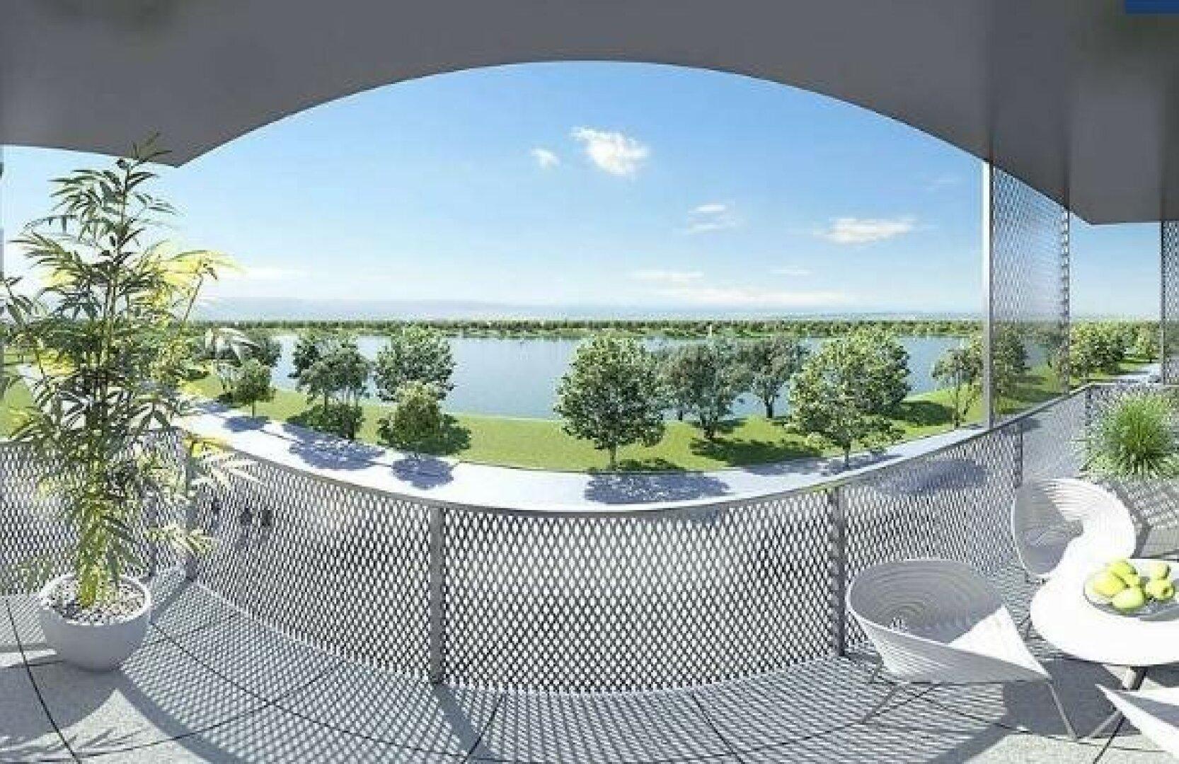 Visualisierung Blick auf den See