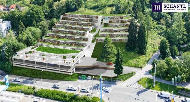 ANLEGERHIT! PERFEKTE EINGETEILTE TERRASSEN-WOHUNG ! 39,9m² mit 13m² Sonnenterrasse im grünen St. Peter!