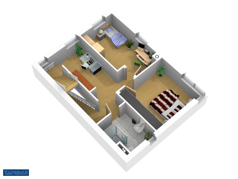 3D-Ansicht 2 Obergeschoß