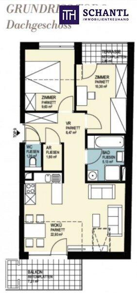 Ab ins Dachgeschoss mit großer Sonnenterrasse + 3-Zimmer + stylisch & modern in 8020 Graz - Nähe FH Joanneum! /  / 8020Graz / Bild 5