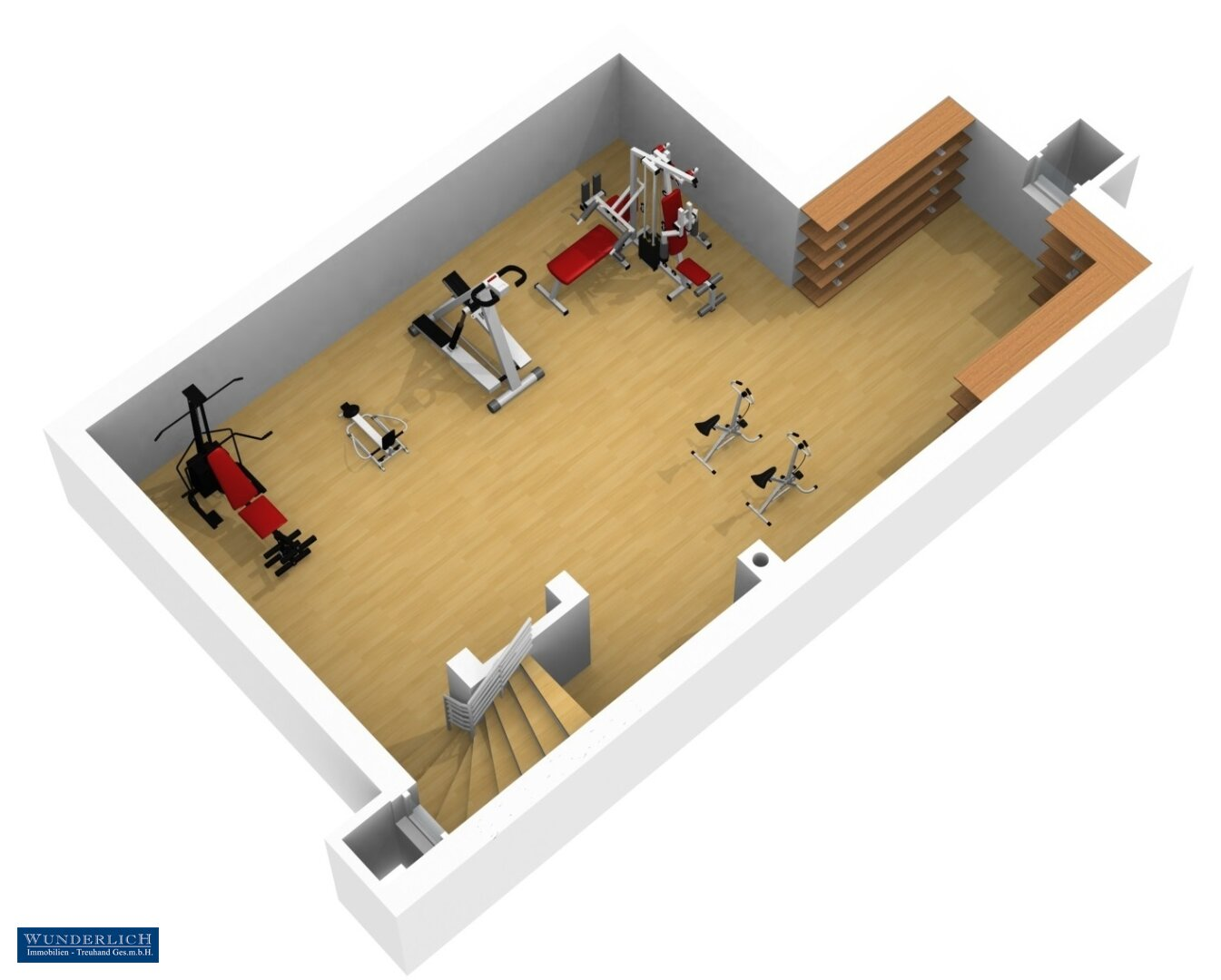3D-Visualisierung 2 - Kellergeschoß