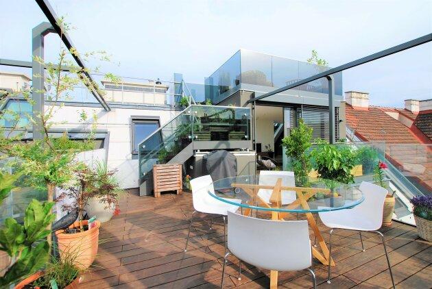 LUXUS DACHGESCHOSS - ca. 183 m² - 4 Zimmer - 360° WIEN BLICK - 2 Garagenplätze