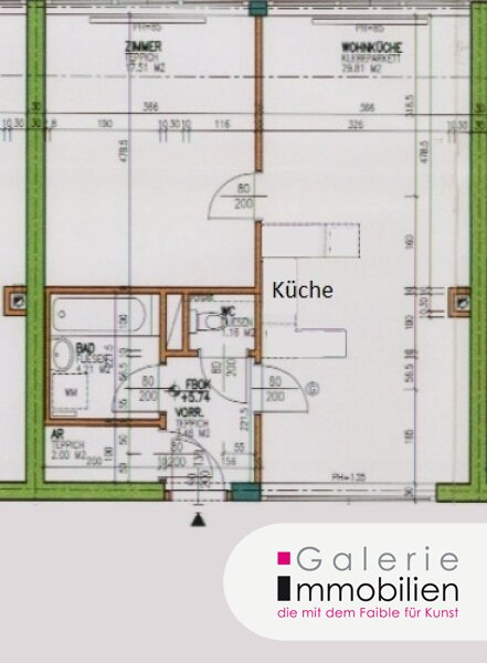 VIDEO: Helle und ruhige 2-Zimmer-Wohnung Nähe U-Bahn! Objekt_35169 Bild_482