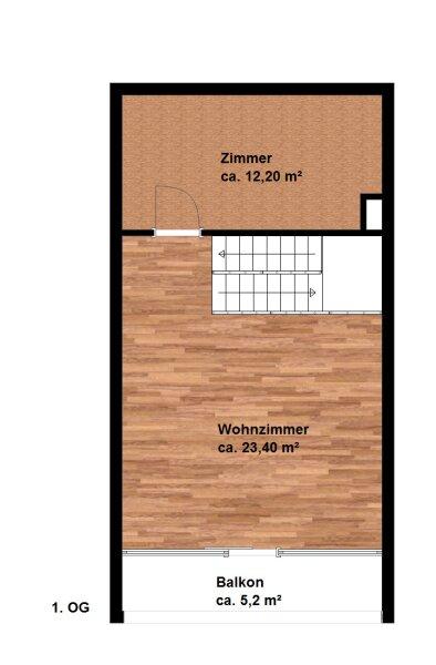.SEHR RUHIGE 4 Zimmer Maisonettewohnung mit Balkon in 1190 Wien!!!  (mit 360° Rundgang) !!! /  / 1190Wien / Bild 5