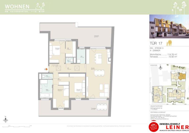Living on the top! Traumhafte Dachgeschosswohnung mit 72,92m² sonniger Terrasse Objekt_15347 Bild_320