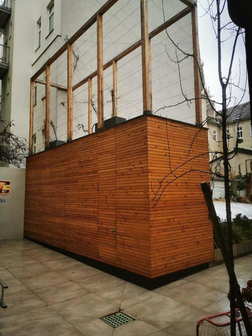 Sauna, Schuppen, Sichtschutz