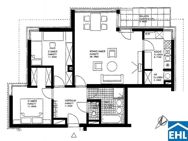 3-Zimmer-Wohnung mitten im Naherholungsgebiet Wien-Grinzing /  / 1190Wien / Bild 6