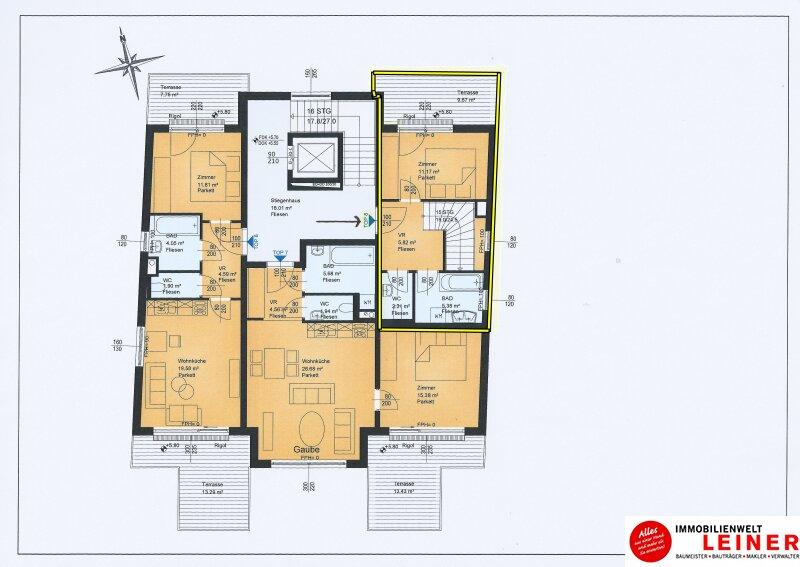 Traumhafte Maisonette Wohnung + Eigengarten + 3 herrliche Dachterrassen Oberlaa, Wohnerlebnis der Extraklasse – Schlüsselfertig – Provisionsfrei! Objekt_8784 Bild_492