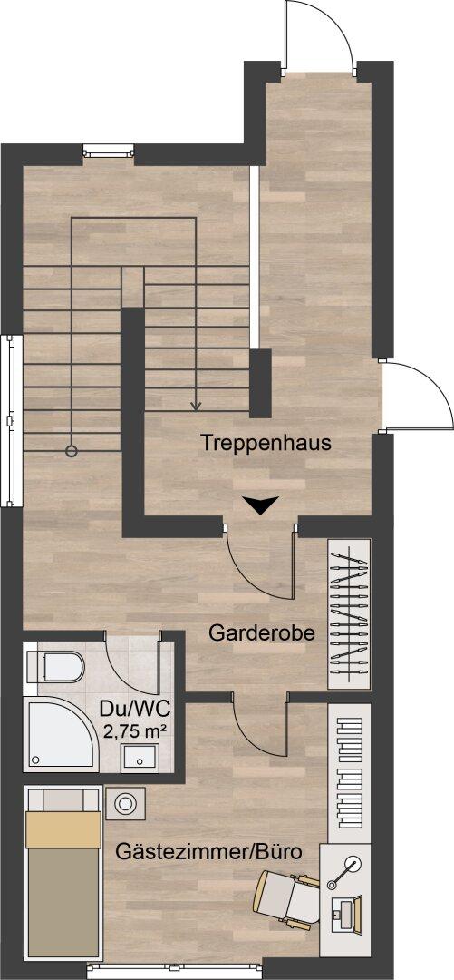 2 D Grundriss Obergeschoss