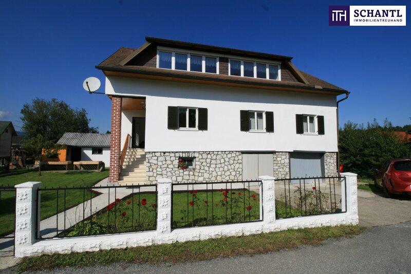 CHANCE! Stilvolles Ein- oder Zweifamilienhaus mit 2 Garagen + ebenerdigen Garten + Ruhelage!