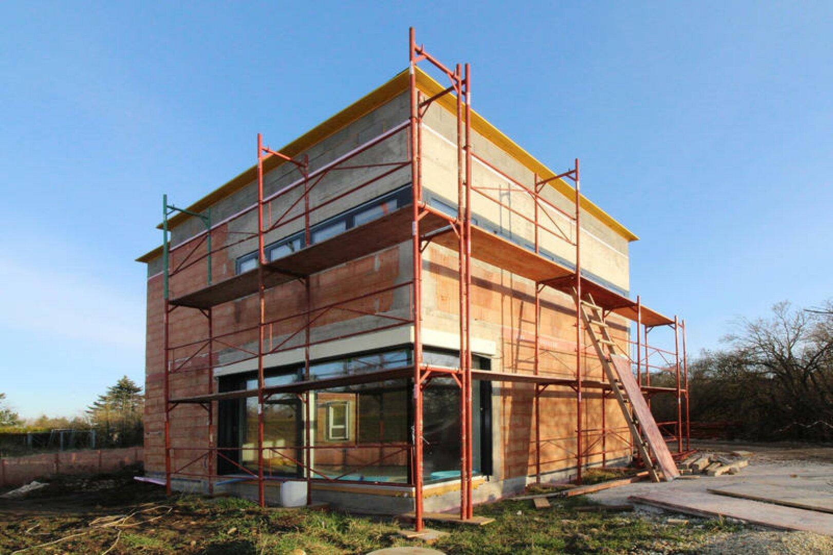 Haus in Fertigstellung