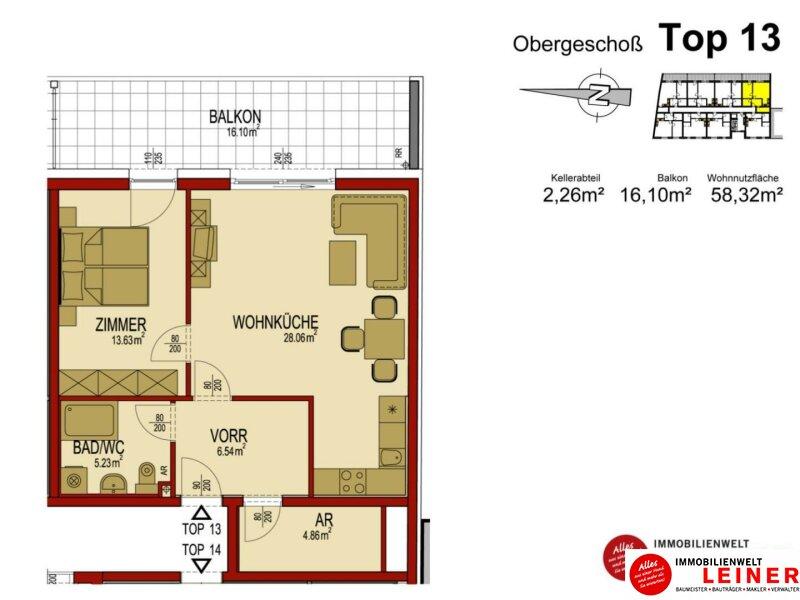 59m² Neubauwohnung mit großzügiger Terrasse Objekt_8895 Bild_201
