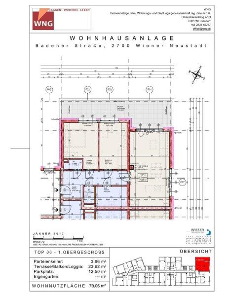 Top 6 - Drei-Zimmer-Wohnung mit großem Balkon. Eine Oase in der Stadt /  / 2700Wiener Neustadt / Bild 8