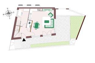 Stadtvilla mit 4 Zimmern und Garten und toller Sonnenterrasse