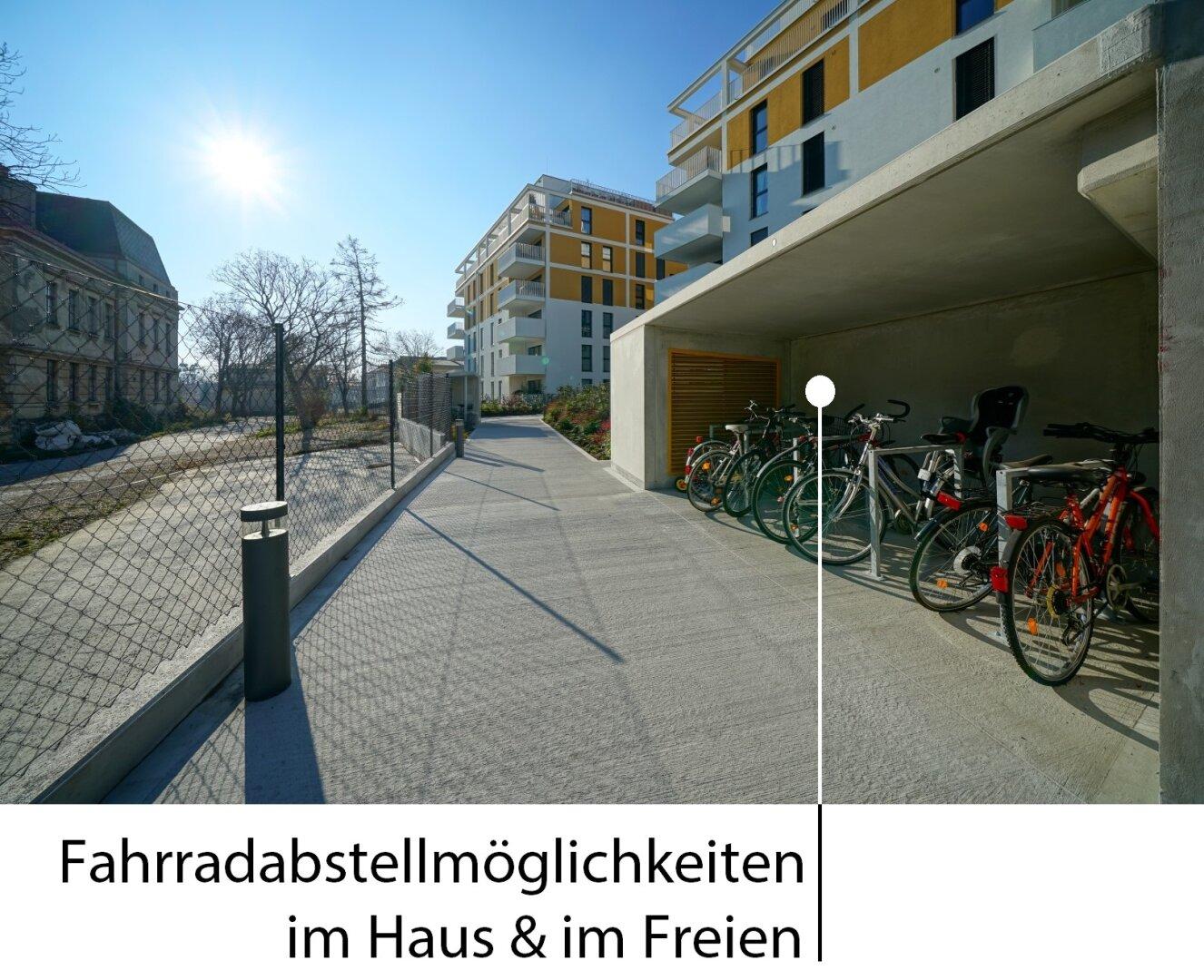 Fahrradabstellmöglichkeiten im Freien