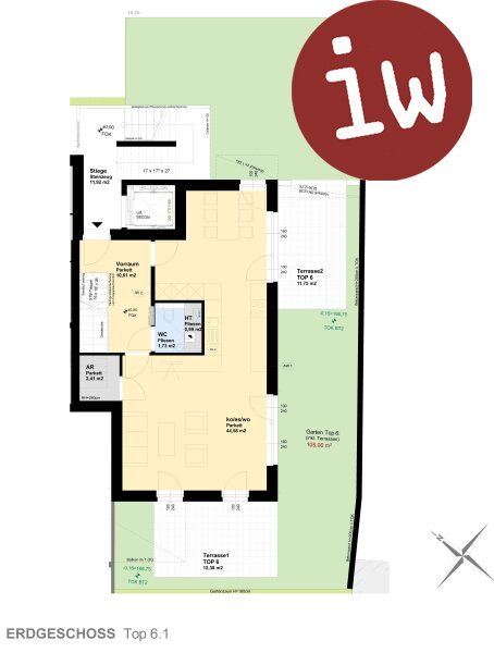 Neuwertige 4-Zimmer Gartenwohnung in Top- Zentrumslage Objekt_584 Bild_148