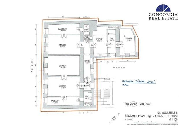 Wohnung und Büro gesamt 204 m²