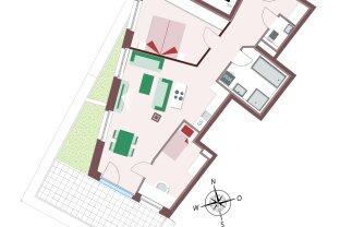 Wundeschöne 3-Zimmerwohnung mit sehr großer Terrasse