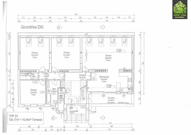 Tolle Dachgeschoßwohnung (eine Ebene) mit großer Terrasse/Rundumblick /  / 1050Wien / Bild 19