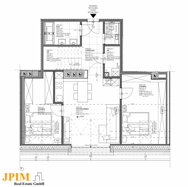 Zentral und ruhig, klimatisierte 3-Zimmer-Dachgeschosswohnung mit Terrasse /  / 1090Wien / Bild 8