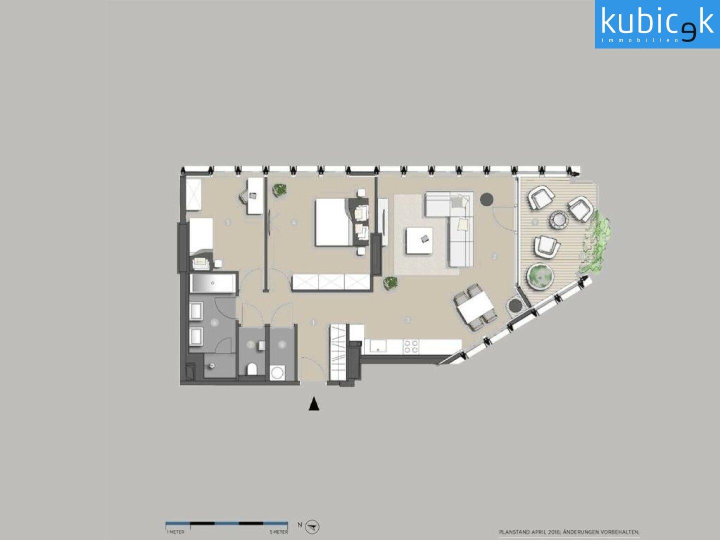 Grundrissplan 3-Zimmer Wohnung