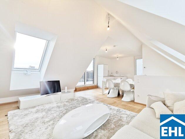 ERSTBEZUG - lichtdurchflutete Dachgeschosswohnung mit zwei Terrassen