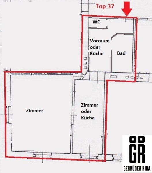 HELLE  ALTBAU ECKWOHNUNG - Sanierungsbedürftig - 4. Stock - 2 Zimmer - zusätzlicher Abstellraum - Nähe Böhmischer Prater /  / 1100Wien / Bild 8
