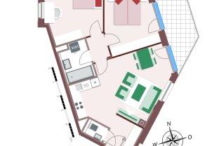 Toll geplante 3-Zimmerwohnung mit großem Balkon