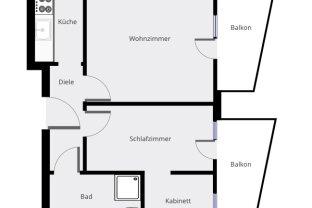 Großzügige WG-taugliche 2,5 Zimmerwohnung in der Höttinger Au