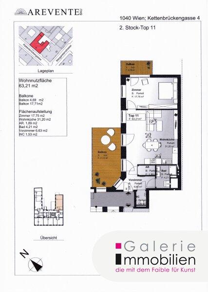 Exklusive Altbauwohnung mit 2 Balkonen in revitalisiertem Biedermeierhaus Objekt_31848 Bild_442
