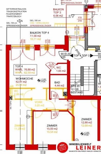 wunderschöne, helle 3 Zimmermietwohnung im Herzen von Schwechat Objekt_8917 Bild_966