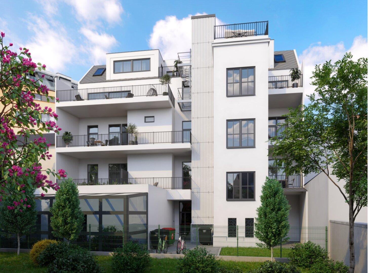 Modern Wohnen mit Altbaucharme - hochwertig sanierte Wohnungen mit Freiflächen (Projektansicht)