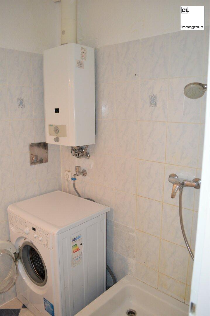 Dusche und Waschmaschine